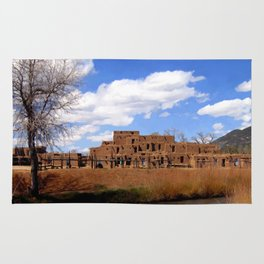 Taos Pueblo, Early Spring Rug