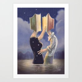 LOVE IS ALL YOU READ Art Print