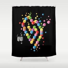 Geek Heart Shower Curtain