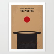 No381 My The Prestige minimal movie poster Art Print
