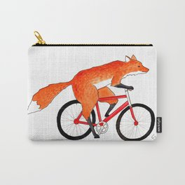 Fox Riding Bicycle Carry-All Pouch