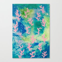 Neon Seaweeds Canvas Print