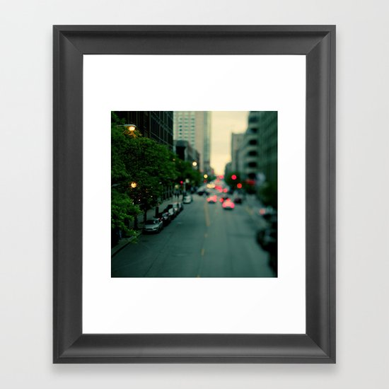 Neon Summer Framed Art Print