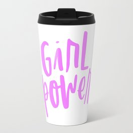 Girl Power 2 Pink and White Travel Mug