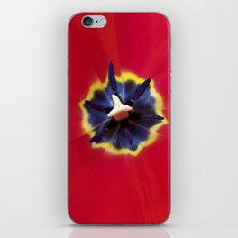 Seeing red (at tulip time) iPhone Skin