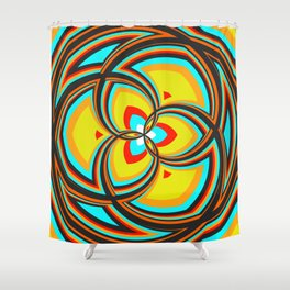 Spiral Rose Pattern A 2/4 Shower Curtain