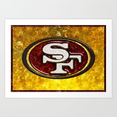 San Francisco 49'ers Logo Art Print