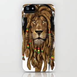 Lion Dreadlocks Rastafari T-Shirt & accessories iPhone Case