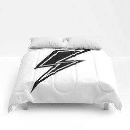 Lightning - Black and White Comforters