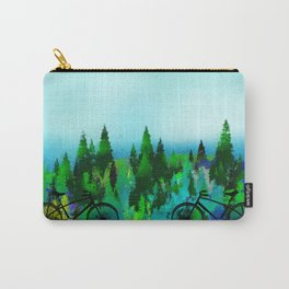 Biking in the Forest Carry-All Pouch