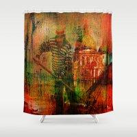 venice Shower Curtains featuring Venice by Ganech joe