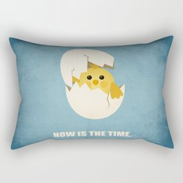 Lab No.4 -Now Is The Time Business Quotes poster Rectangular Pillow