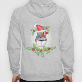 Zebra finch Christmas style Hoody