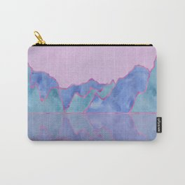 Mountain Reflection in Water - Pastel Palette Carry-All Pouch