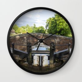 Looking over lock 21 Wall Clock