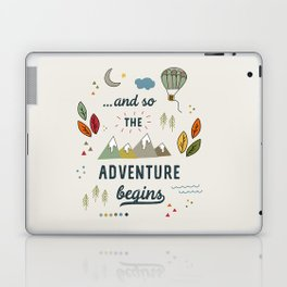 ...and so the adventure begins Laptop & iPad Skin