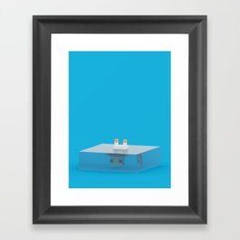 drowned (voxel) Framed Art Print