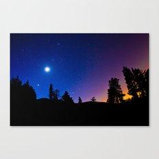 Moon and Venus at Dawn Canvas Print