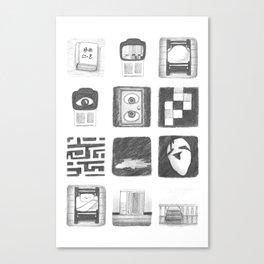 Vignettes - Yume Nikki Canvas Print