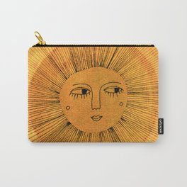 Sun Drawing Gold and Blue Carry-All Pouch