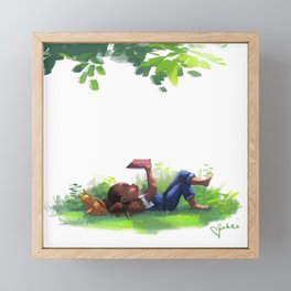 Weekend Goals Framed Mini Art Print