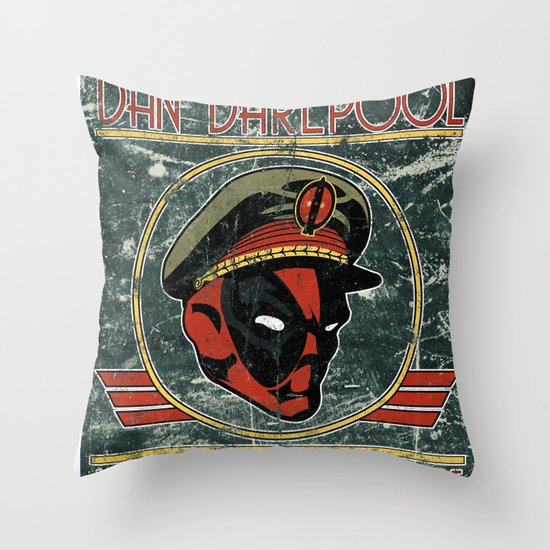 Dan Darepool: Insane Ninja-Merc of the Future Throw Pillow