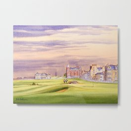 St Andrews Golf Course Scotland 17th Green Metal Print