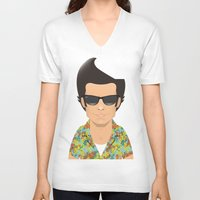 ace V-neck T-shirts featuring Ace by Capitoni