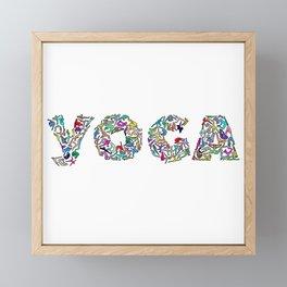 YOGA Figure Poses Framed Mini Art Print