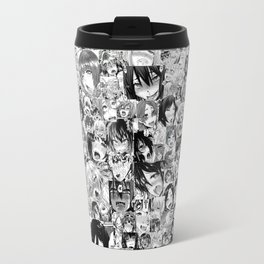 Ahegao Hentai Anime Faces Collage Travel Mug