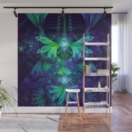 The Clockwork Kite Wings of a Blue-Green Dragonfly Wall Mural