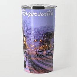 Historic Rogersville Tennessee In Winter Travel Mug