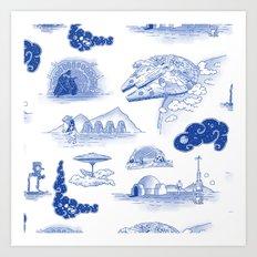 Pop Porcelain: Far Far Away Art Print