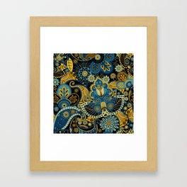 Khokhloma floral pattern Framed Art Print