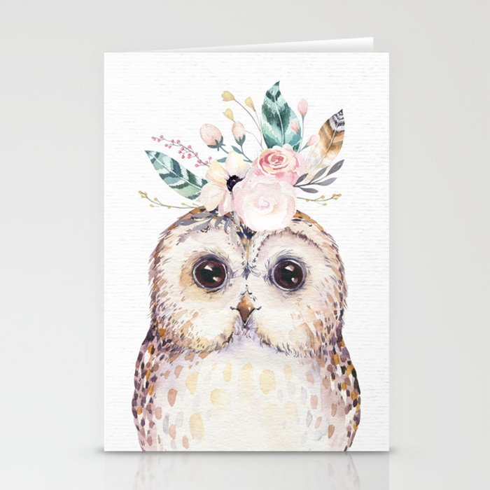 Forest Owl by Nature Magick Stationery Cards