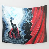 thor Wall Tapestries featuring Thor Beta Test by ART HOLES