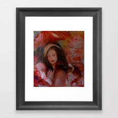 sueno; sketch study Framed Art Print