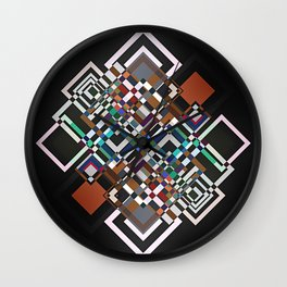 textile geometry Wall Clock