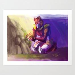 Dinobot and the Flower Art Print