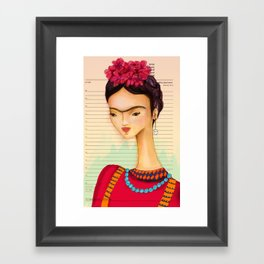 Icons / Frida Framed Art Print