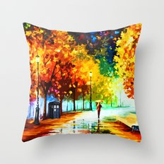 Tardis Watching On The Street Throw Pillow