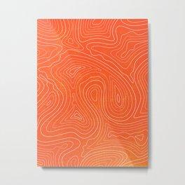 Sunset Ripple Metal Print