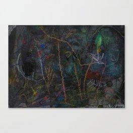 Mnight Garden cycle22 1 Canvas Print