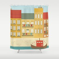 portugal Shower Curtains featuring Portugal by Kakel