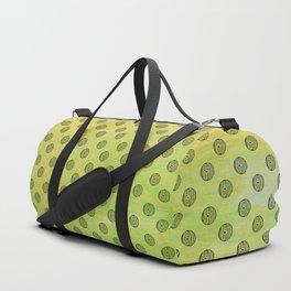 eye ball 3 . yellow .Artwork . Duffle Bag