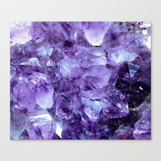 Amethyst Crystals Canvas Print