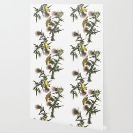 Goldfinch And Thistle Wallpaper