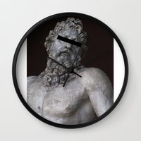 anonymous Wall Clocks featuring Anonymous by Logan Amick