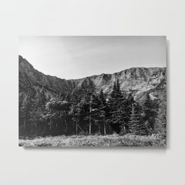 Black and White Katahdin Metal Print