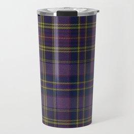 Purple Tartan Travel Mug